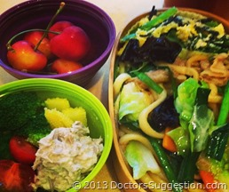 夜は仕事で遅くなるからと、娘さんに毎日野菜たっぷりのおべんとう